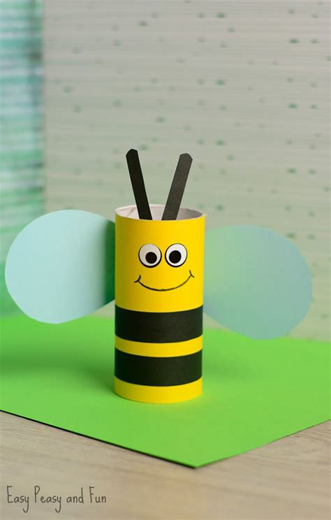 How To Make Sticks With Toilet Paper Rolls - best 25 bumble bee crafts ideas on bee crafts