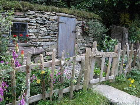 cottage garden my neighbors have a garden fence like this and i love it this is my summer