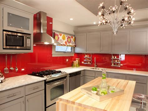 red backsplash kitchen best colors to paint a kitchen pictures ideas from hgtv