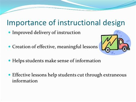 layout strategy importance importance of instructional design for teachers