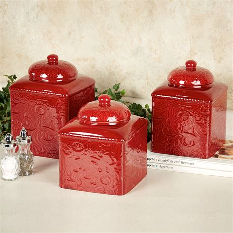red decor red canisters kitchen decor kitchen and decor