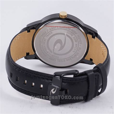 Ripcurl Detroit Leather Chrono rip curl detroit black leather kw 1 bagian belakang toko