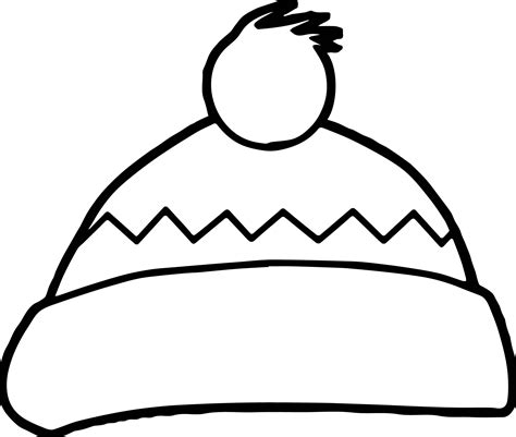 hat coloring winter hat coloring page wecoloringpage