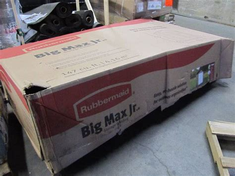 rubbermaid big max junior  ft     ft storage shed