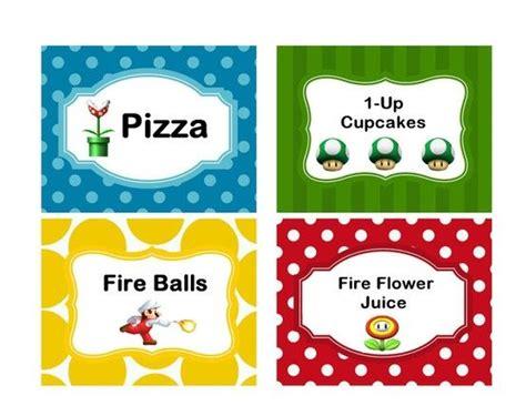 printable nes labels food labels for birthday buscar con google mario bro