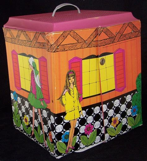 old barbie doll houses vintage barbie doll vinyl family fold out house case mod 1968 72 htf