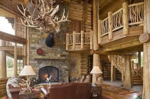 ranch custom log home rustic living