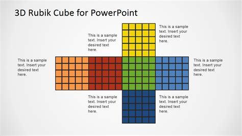 cube powerpoint template rubik s cube flat design of faces slidemodel