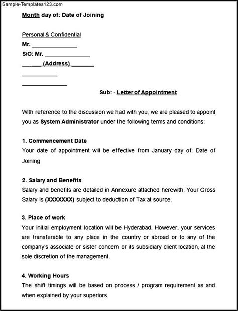 appointment letter for storekeeper appointment letter retail store manager 28 images 10
