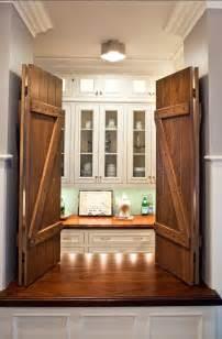 using barn doors as pantry doors is such a creative idea