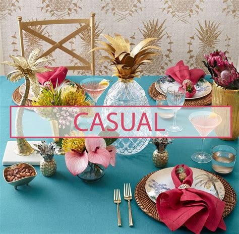 casual table setting ideas 50 table setting decorations centerpieces best