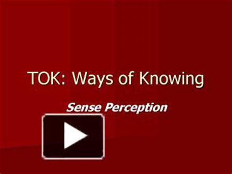 ppt tok ways of knowing powerpoint presentation free
