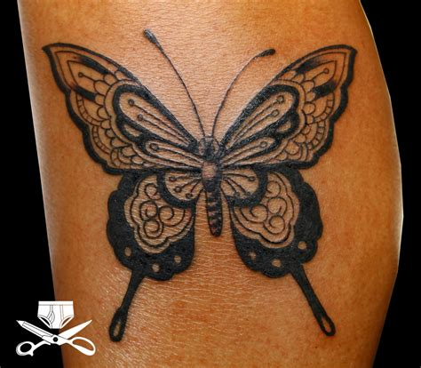 henna style butterfly tattoo hautedraws