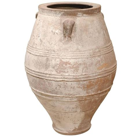 white pot mid century large white greek terracotta pot for sale at