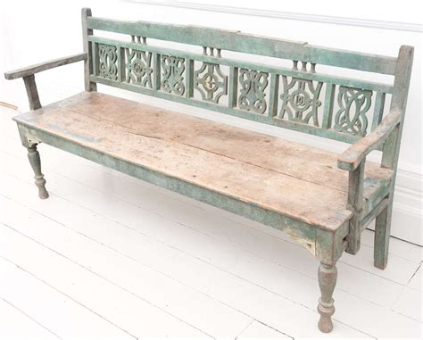 settle benches early 19th c painted marriage settle bench at 1stdibs