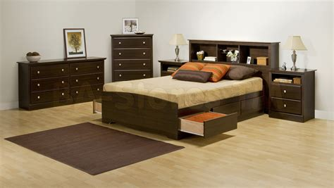 Fremont pcs contemporary double size bedroom set with tall