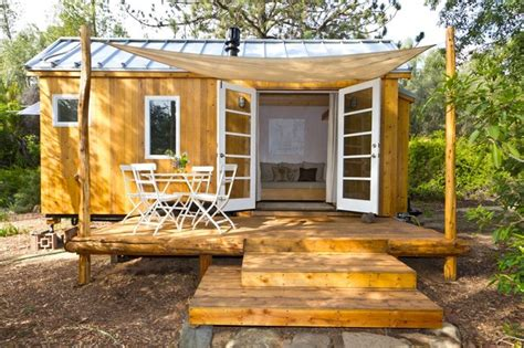 tiny house with deck vina s tiny house contemporary porch other metro