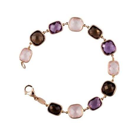 Multi Colored Pillow Cut Bezel Set Link Bracelet   Gemstone Jewelry   Cleveland, OH   C.M