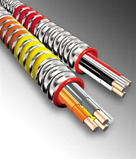 10 4 armored cable bx cable ac lite aluminum armored cable ul and rohs