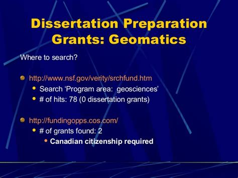 dissertation funding dissertation presentation grants powerpoint presentation