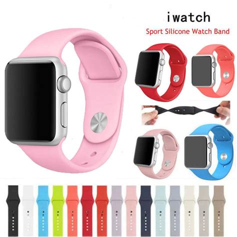 Best Bracelet 2017/ 2018 : Sports Silicone Bracelet Strap Wrist Band For Apple Watch Iwatch
