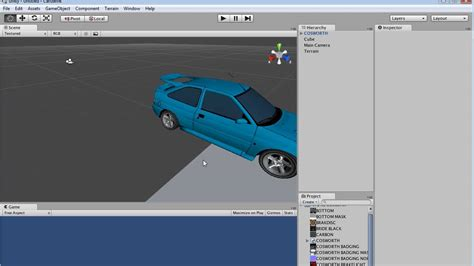 unity tutorial car game unity 3d car game tutorial serie