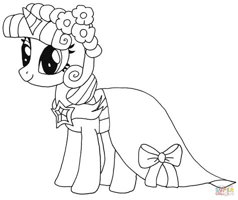 princess twilight sparkle coloring page free printable