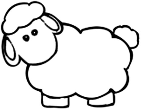 simple sheep coloring page lamb coloring page lamb coloring page free coloring pages