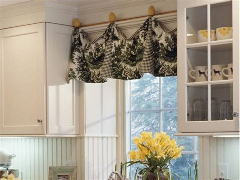 Hgtv Kitchen Curtains adding color and pattern with window valances window