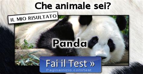 risultato test risultato test animale sei panda