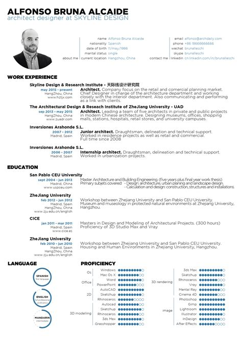 Architecture Resume gallery of the top architecture r 233 sum 233 cv designs 9