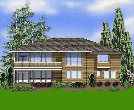 plan 6966am modern prairie style home plan basements