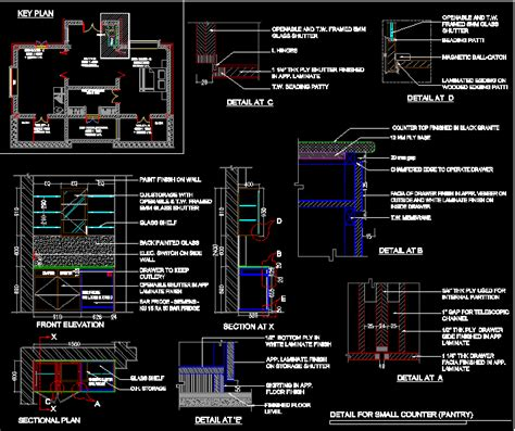 pantry detail dwg plan  autocad designs cad
