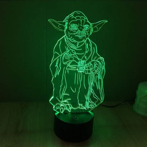 wars 3d led light l wars yoda hologram 3d light table desk led l 7