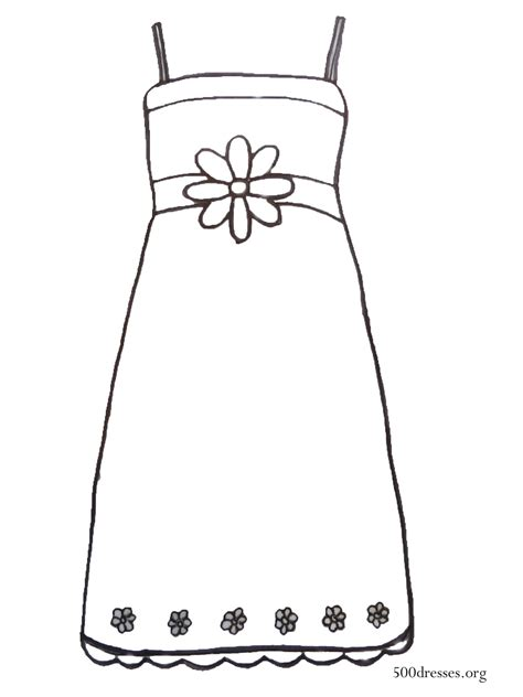 coloring page dress free coloring pages of dress clothing