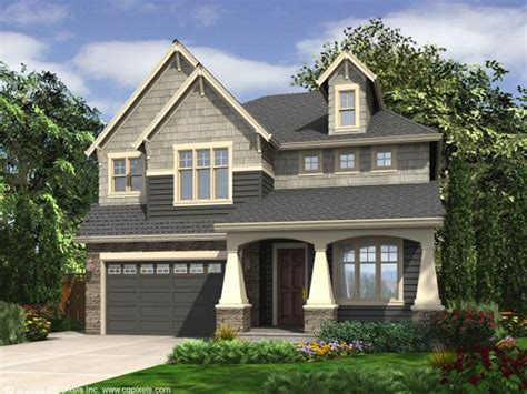 Narrow Lot Homes Craftsman House Plans Two Story Craftsman Home Plan Fits A Narrow Lot 024h 0003 At