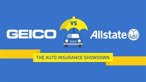 geico  allstate  auto insurance showdown quotecom