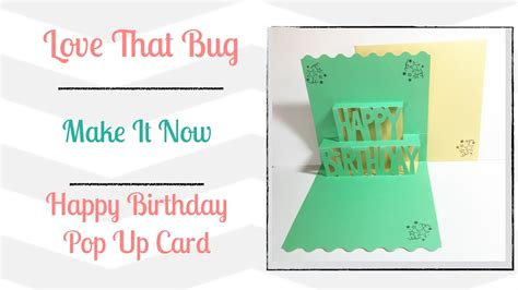 how to make a card using cricut templates cricut explore min happy birthday pop up card