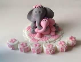 fondant elephant safari baby shower cake topper by