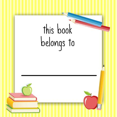 book label templates back to school labels for how to nest for less