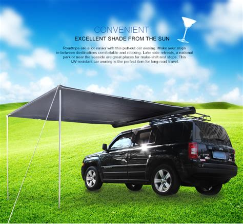 cer slide out awnings cer slide out awning 2 5m x 3m grey pull out car awning