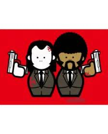 cuadro pulp fiction pulp fiction jules vincent pop art en rojo cuadro mural
