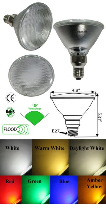 Led Len 3 Watt by Par38 7 Watt Led 120 Vac Diffused Lens 30 Degree E26