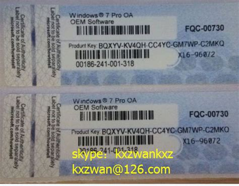 Coa Licence Lisensi Key Windows 7 Profesional Original Murah microsoft windows 7 professional coa sticker oem and fpp