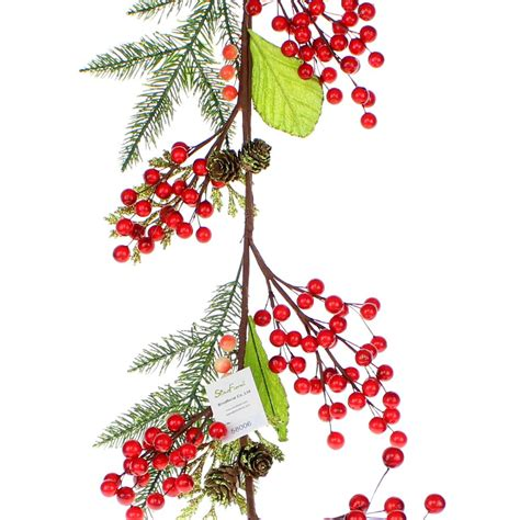 berry pine garland
