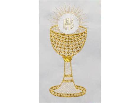imagenes caliz uvas espigas mantel de altar con c 225 liz hostia trigo y uvas bordadas