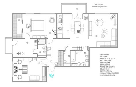 Modern Apartment Plans | modern apartment floorplan interior design ideas