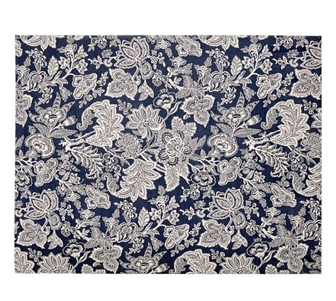 4x6 Indoor Outdoor Rug Layla Palore Indoor Outdoor Rug 4x6 Blue Pottery Barn