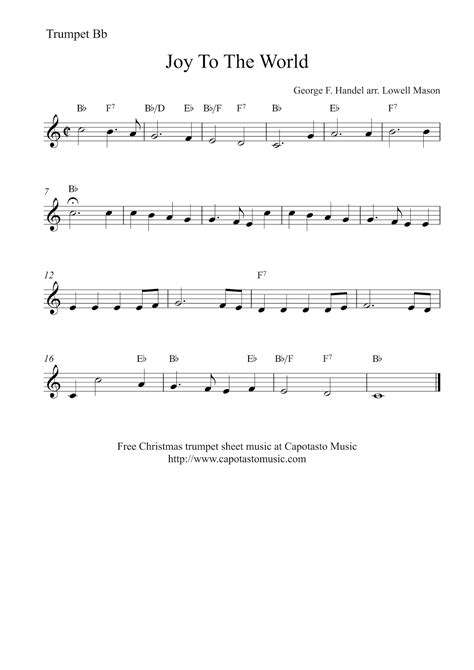 Free Printable Sheet For Trumpet free printable sheet