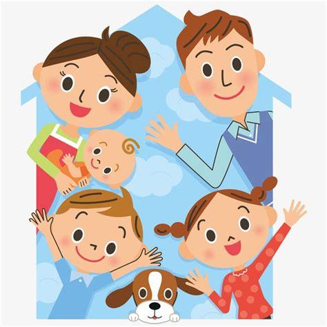 imagenes animadas de amor en familia la familia de dibujos animados feliz cartoon familia